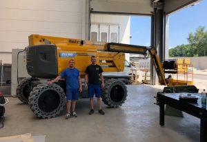 Rothlehner Arbeitsbühnen - Haulotte HA20LE Pro an Bauunternehmern geliefert