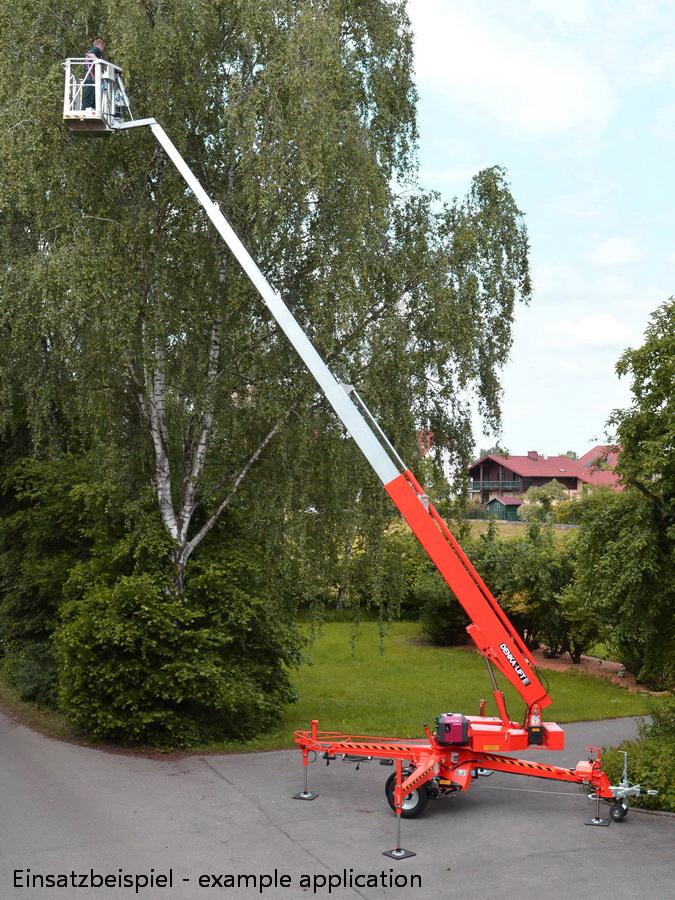 Rothlehner Arbeitsbühnen - Botanischer Garten Berlin erhält DENKA•LIFT DK25
