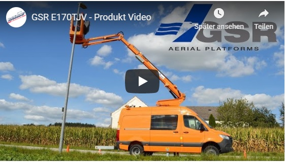 Product video of the GSR E170TJV – municipal truck-mounted work platform