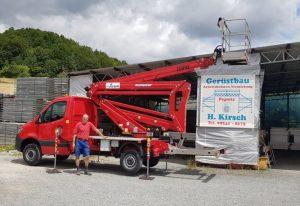 Rothlehner Arbeitsbühnen - GSR B220PXE an Arbeitsbühnenvermietung Kirsch