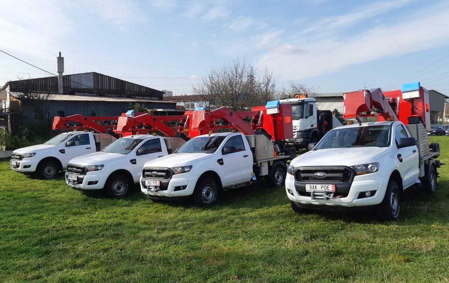 Rothlehner Arbeitsbühnen - GSR E140P Spezialgerät auf Ford Ranger 4x4