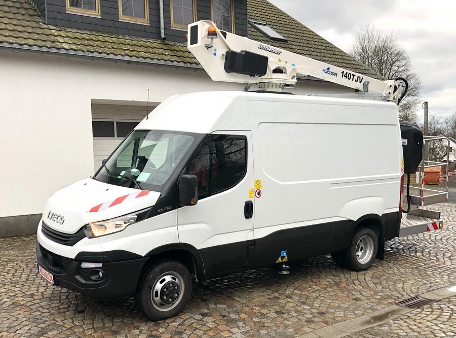 GSR E140TJV auf Iveco für Telekommunikations-Firma auf Rügen