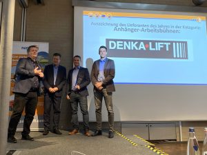 Rothlehner Arbeitsbühnen - With DENKA•LIFT the trailer supplier of the year at PartnerLIFT