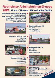 Rothlehner Arbeitsbühnen - Die Rothlehner Unternehmensgruppe 2019