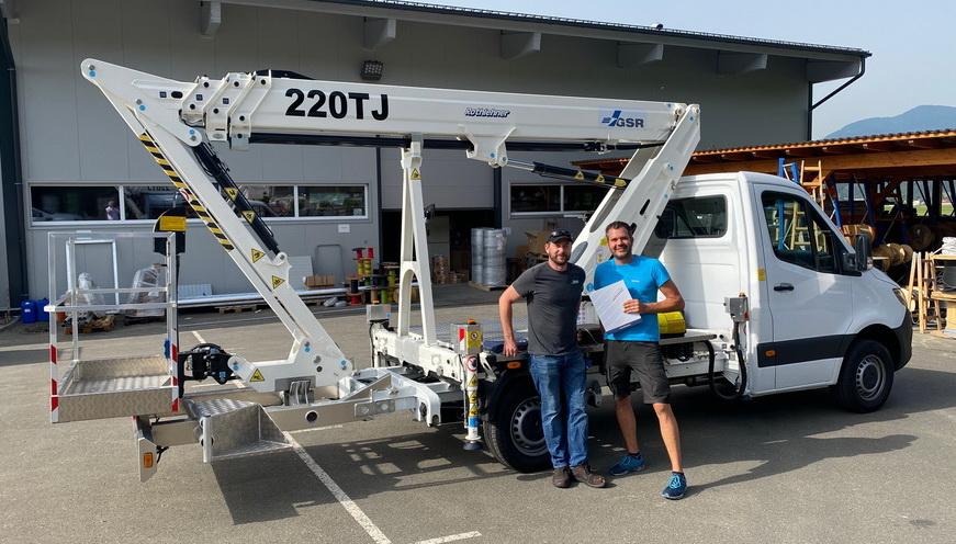 Rothlehner Arbeitsbühnen - GSR B220TJ goes to Austria