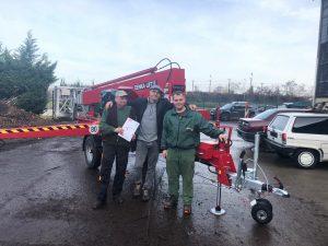 Rothlehner Arbeitsbühnen - Denka-Lift DK25 für Firma GreenUp