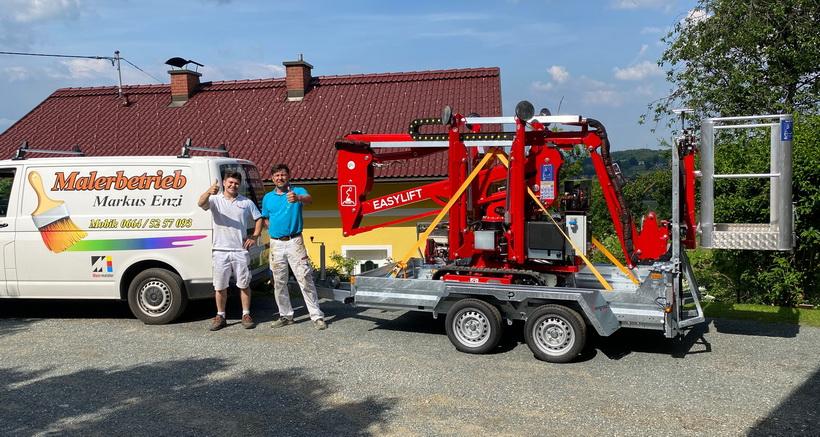 Rothlehner Arbeitsbühnen - Easylift R130 geht an Malerbetrieb in Österreich