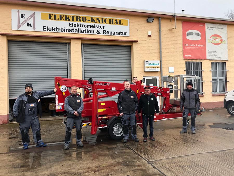 Europelift TM13T an Elektro-Firma geliefert